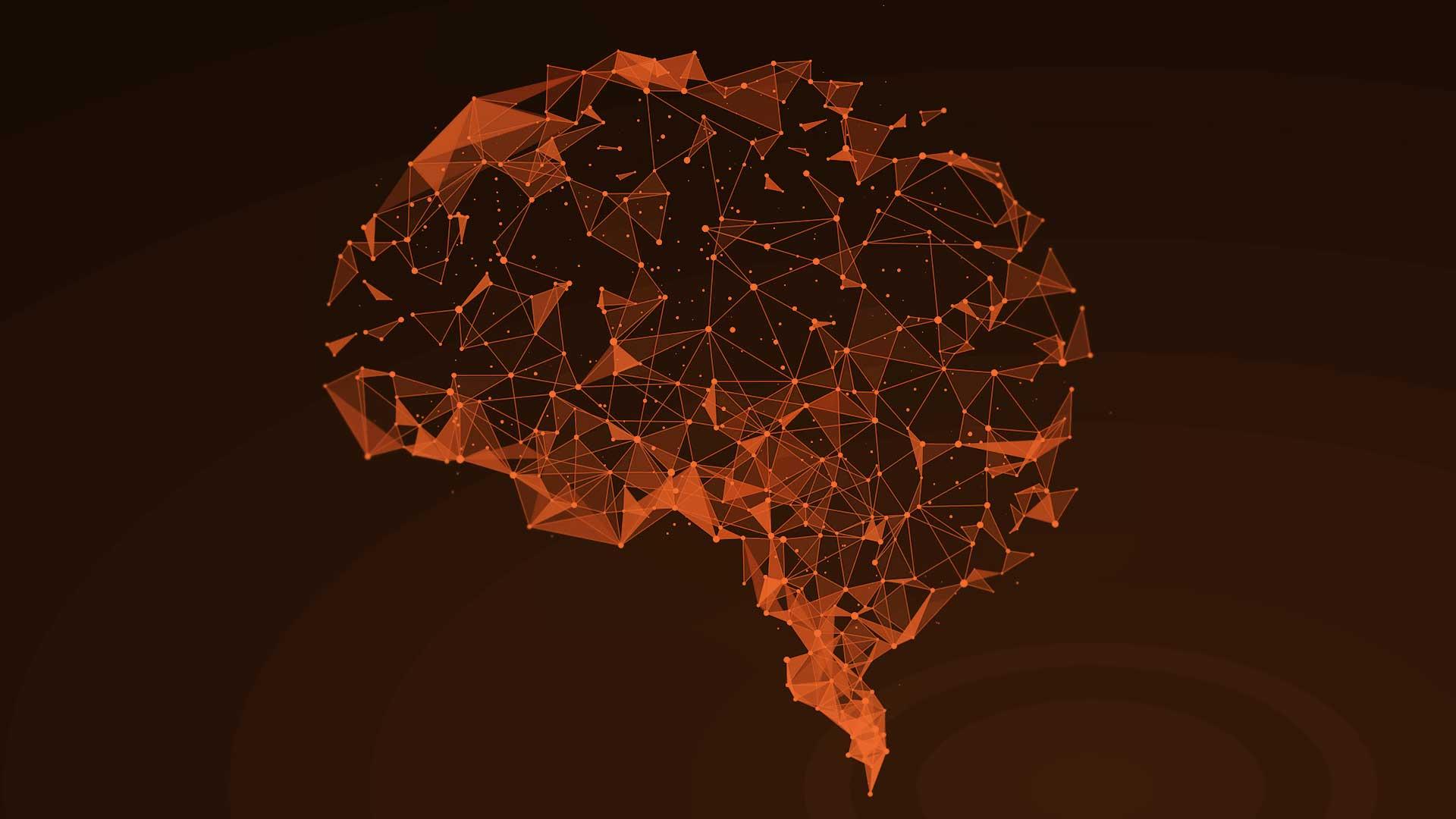 Geometric brain illustration